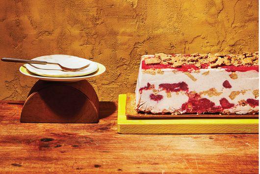 Horchata & Roasted Plum Sorbet Cake
