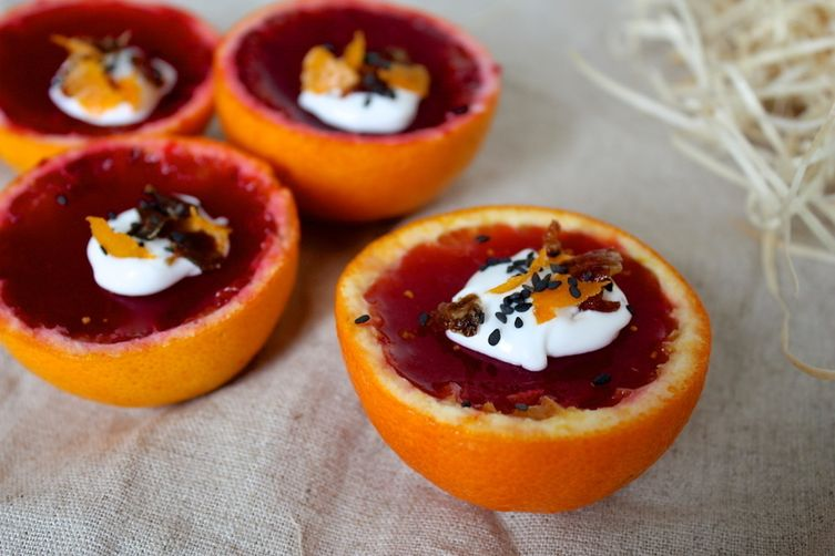 Vegan Blood Orange Jello