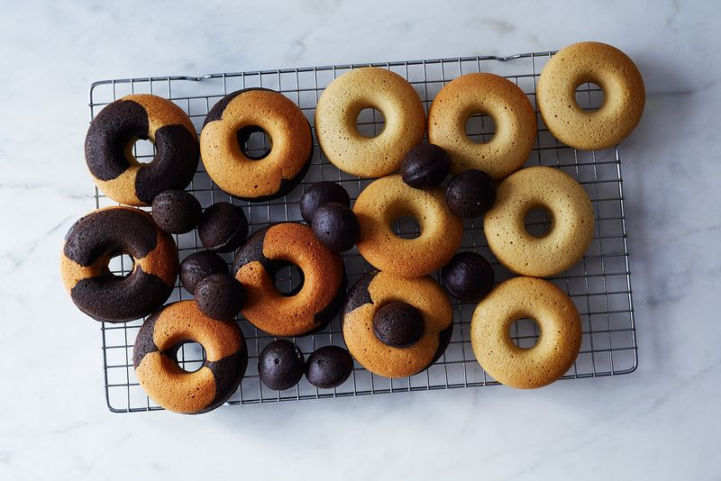 """Don't mind us: We're just sitting here, waiting for glaze."""