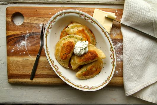 Potato and Aged Cheddar Perogies