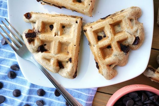 Crispy Chocolate Chip Cookie Whole-Wheat Waffles