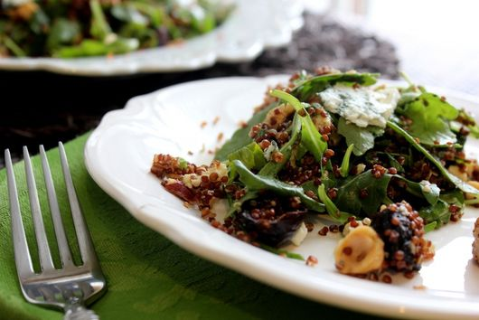 Roasted Fig and Hazelnut Quinoa Salad