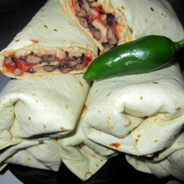 Black Bean Jalapeno Burritos