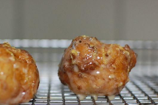 Orange-Cardamom-Maple glazed Puff Puffs