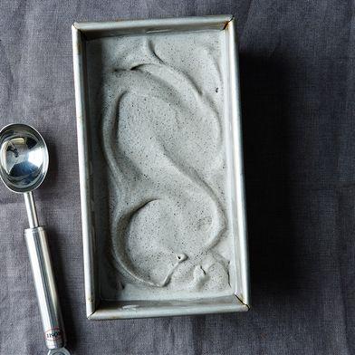Black Sesame Seed Ice Cream