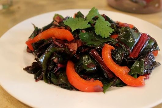 Orange Scented Swiss Chard Sauté