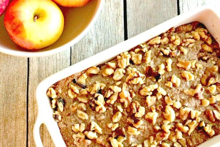 Healthy Almond Walnut Apple Crisp