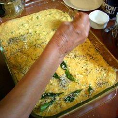 Dadi's Handvo (savory lentil cakes)