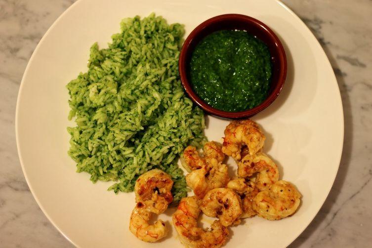Cilantro Chimichurri & Rice