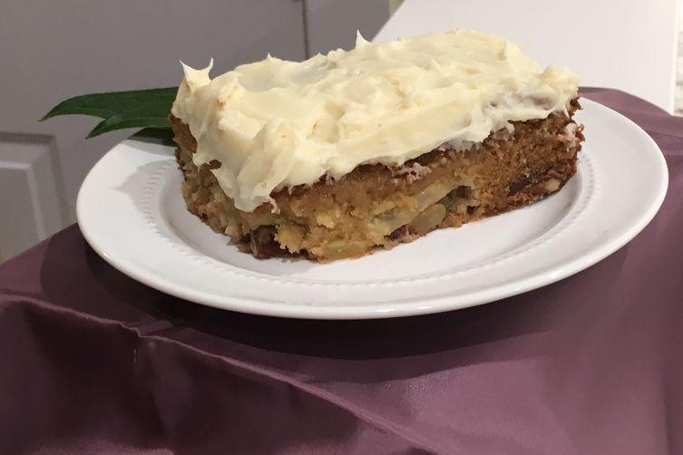 So.... Delicious Apple Pecan Cake