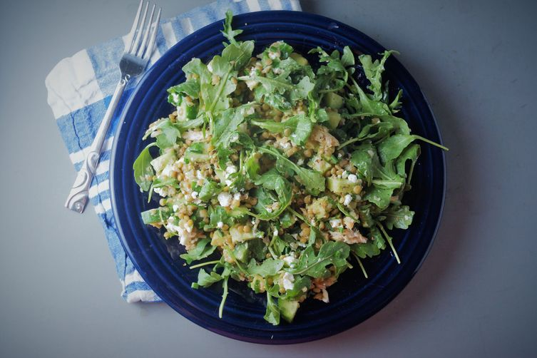 Green Lentil & Trout Salad