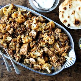 "Sheet Pan Chicken and Cauliflower ""Shawarma"""
