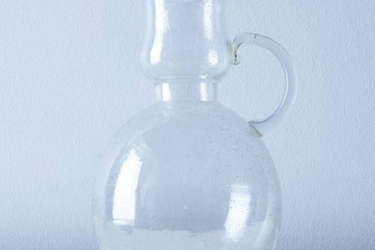 Seeded Glass Pitcher