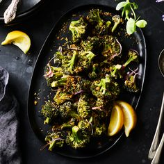 Roasted Buttermilk-Brined Broccoli With Preserved Lemon