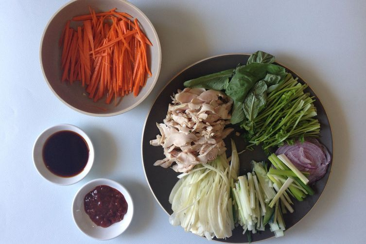 Banh mi (Vietnames chicken) sandwich