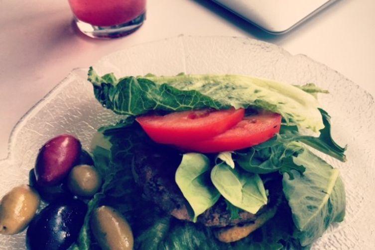 Grilled Cilantro Feta Hamburgers