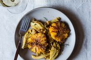 Caramelized Fennel, Leek, and Orange Salad