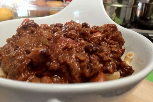 Beef Chili with beans and beans
