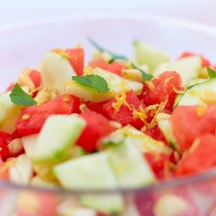 Summery Watermelon and Cucumber Salad