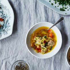 Watch This Warm, Filling Rice & Cabbage Soup Come to Life