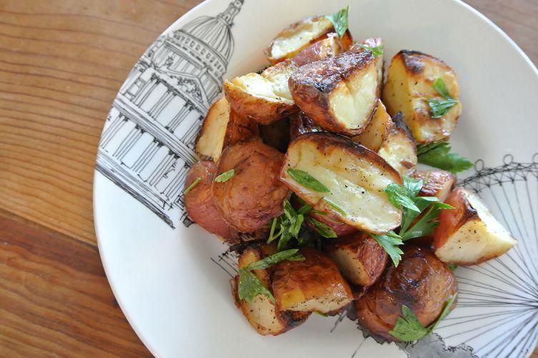 salt & vinegar roasted potatoes