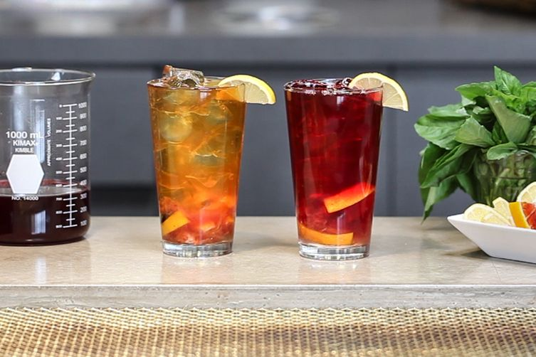 Blood Orange Sparkling Iced Tea