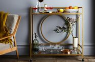 How Your Bar Cart Can Do Double Duty