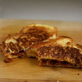 Caramelized Onion Barbecue Grilled Cheese