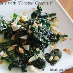 5 Minute Crispy Coconut Kale