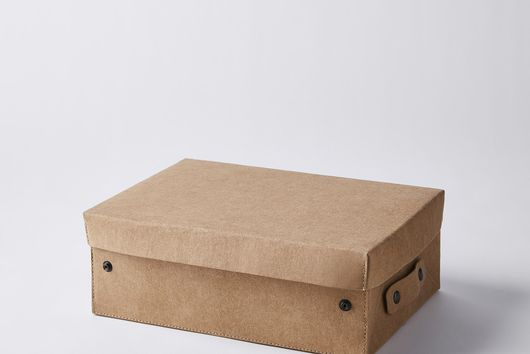 Collapsible Paper Storage Boxes with Lid