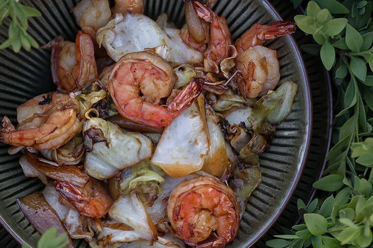 Prawns with Lemongrass
