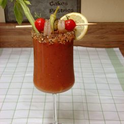 Spicy Grilled Tomato Bloody Mary
