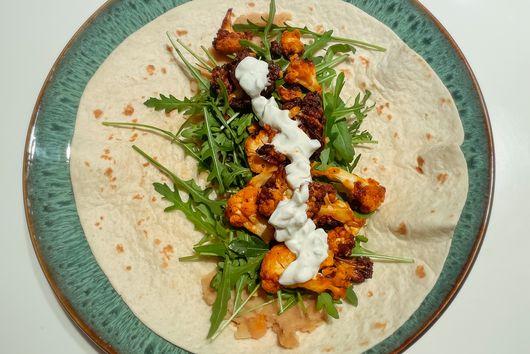 Air Fryer Buffalo Cauliflower Tacos