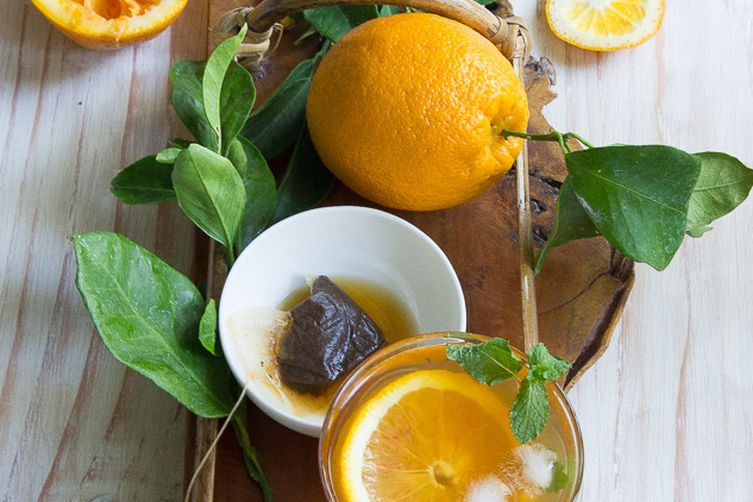 Earl Grey and orange iced tea