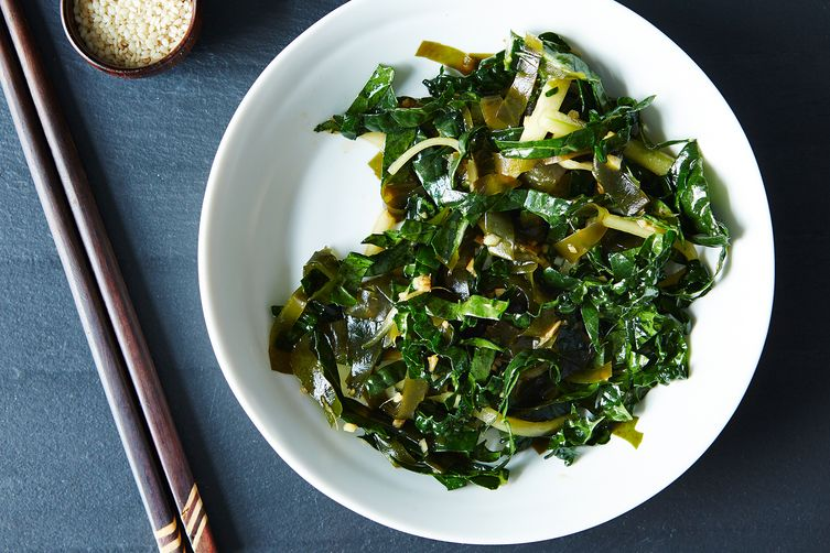 Seaweed Salad with Kale and Cucumber