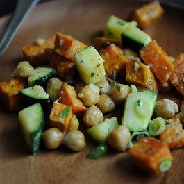 Yam Zucchini, and Chickpea Salad by NanciKnits