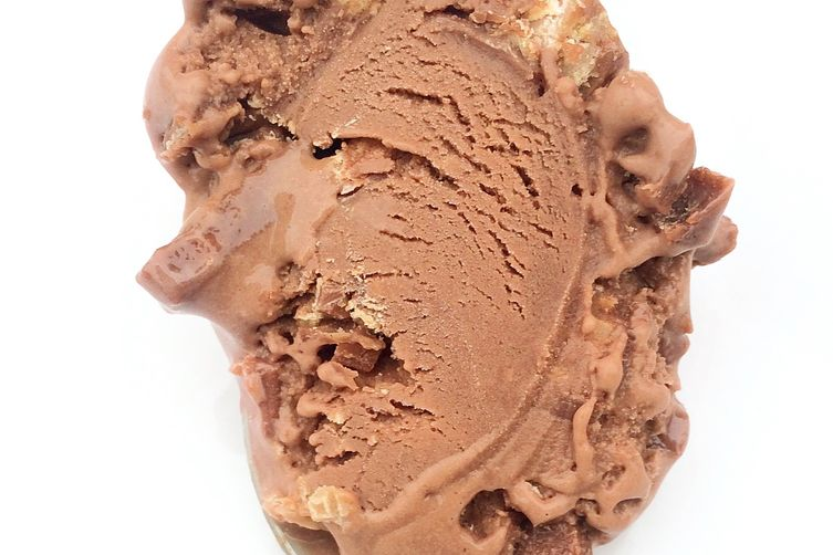 Made with KitKat malted milk chocolate ice cream