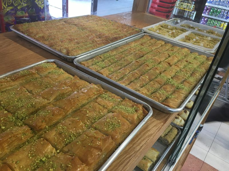 Baklava for days at Newroz Market in Nashville.