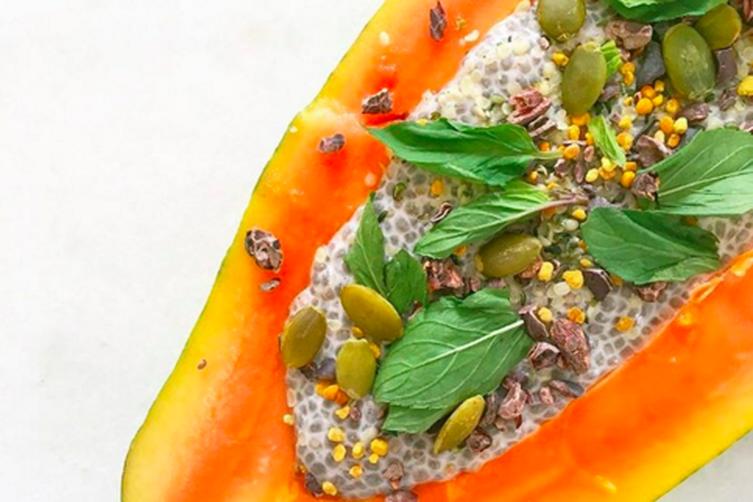Papaya Breakfast Boat
