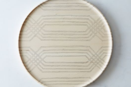 Hand-Decorated Wood Tray