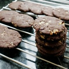 Chocolate Cranberry Walnut Cutout Cookies