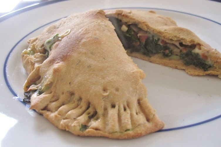 kale and cheese calzone