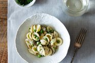 Creamy Spring Pasta with Shiitake Mushrooms and Peas