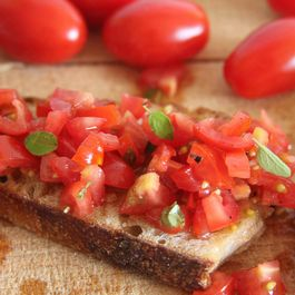 Tomato Bruschetta (summer on toast)