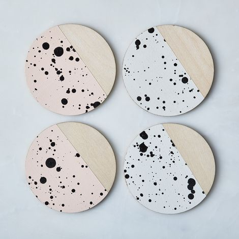 Madewell x Food52 Speckled Birchwood Coasters (Set of 4)