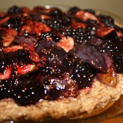 Raw Blackberry Fig Tart