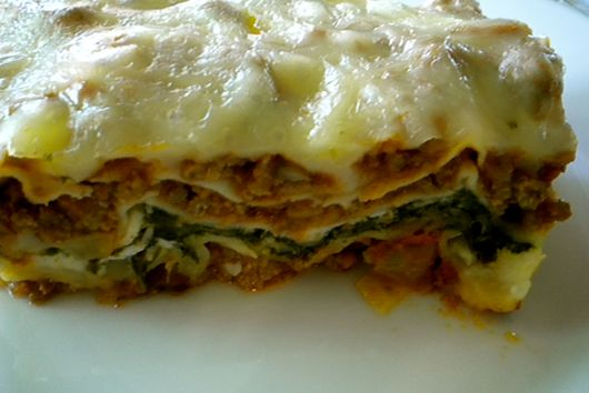 Meaty Four Cheese Lasagna