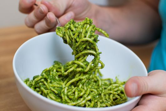 Chard and Walnut Pesto