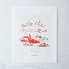 Vintage Menu Print: Billy the Oyster Man