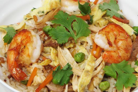 Prawn and Turkey Nasi Goreng